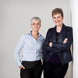 Headshot of authors Liz Barron and Anne Tannam