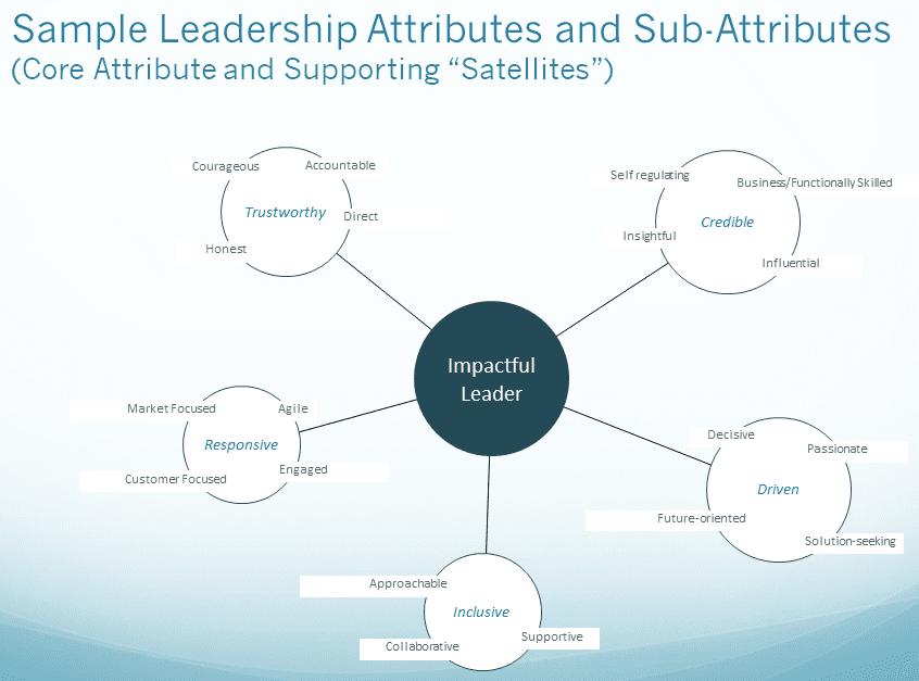 Graphic representation of leadership attributes.